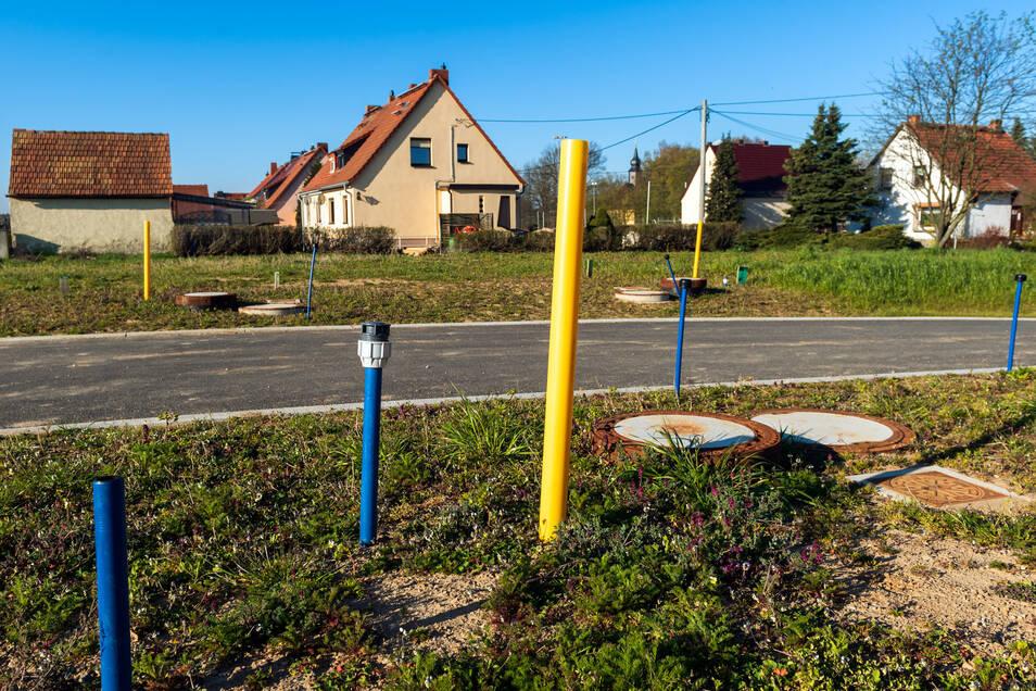 Baugrundstücke in Rammenau sind gefragt. Am Burkauer Weg wurde ein neues Wohngebiet erschlossen.