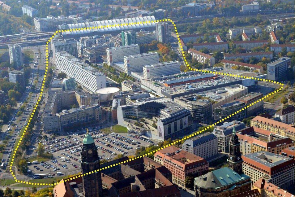 Für eine attraktivere Innenstadt: Im Gebiet zwischen Dr.-Külz-Ring und Hauptbahnhof sollen neue Bänke und einheitliche Werbetafeln aufgestellt werden.