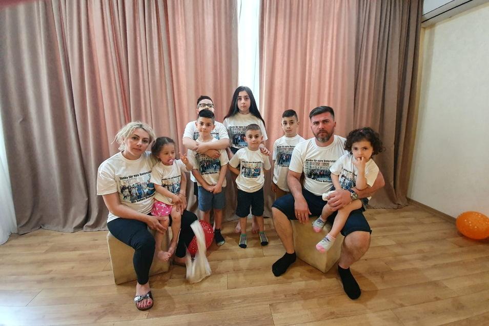 Familie Imerlishvili eine Woche nach der Abschiebung in Tiflis.