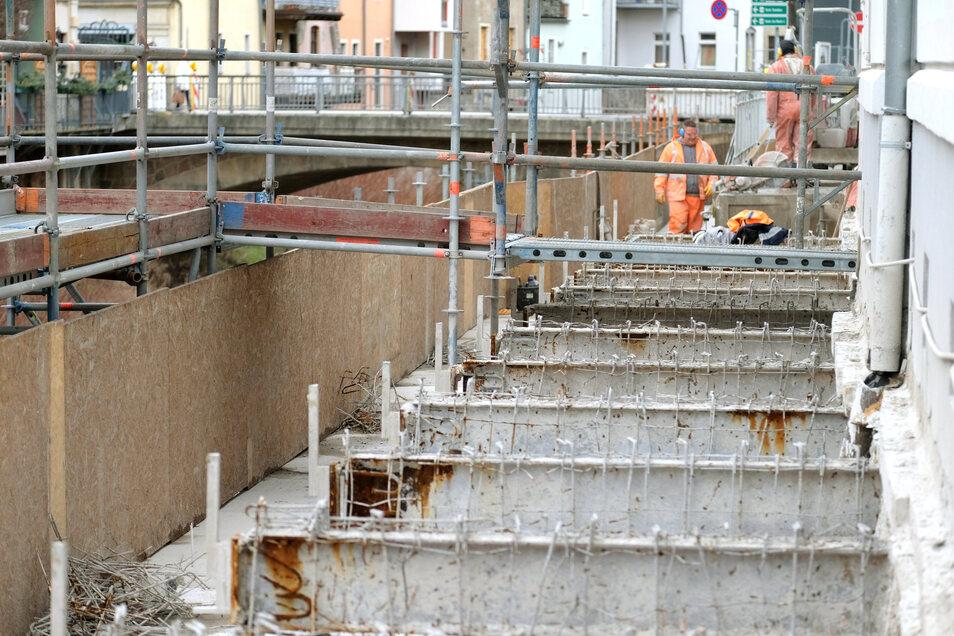 Der Ersatz für beschädigte Stahlteile am Meißner Triebischsteg ist jetzt fertig produziert und soll in nächster Zeit montiert werden.