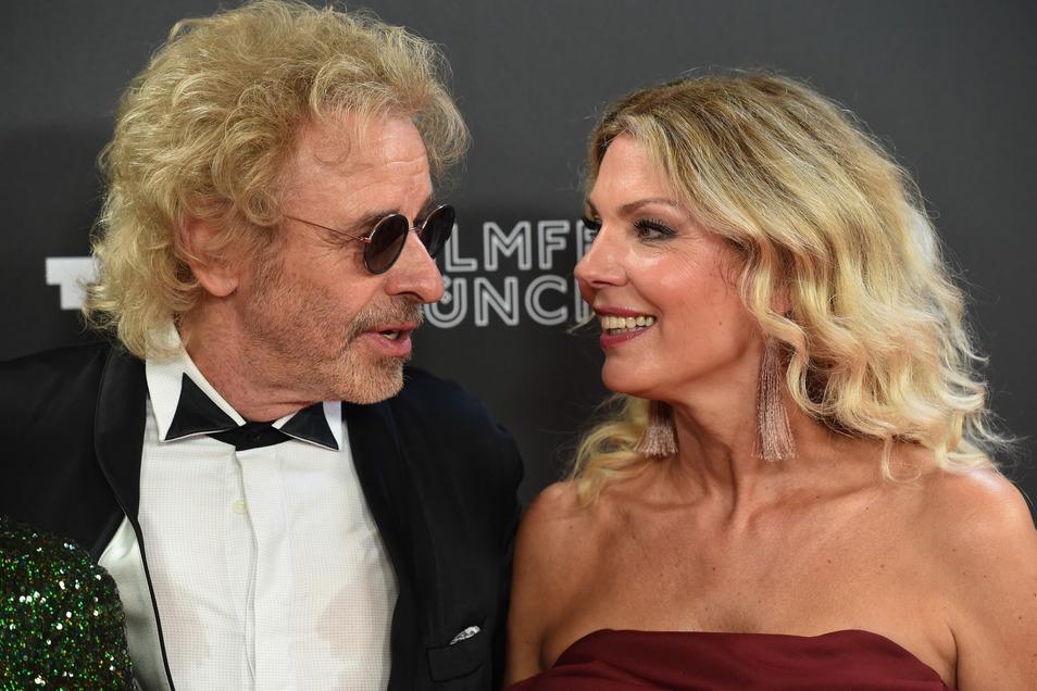 Gottschalk und seine Freundin Karina Mroß beim Filmfest München im Juni 2019.