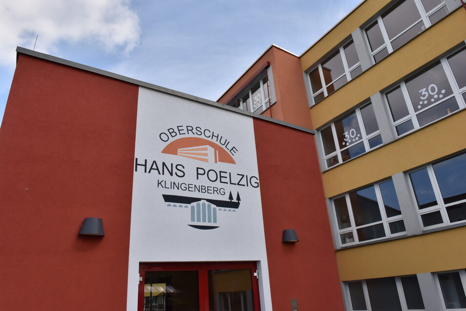Logo an der Oberschule Schule Klingenberg.
