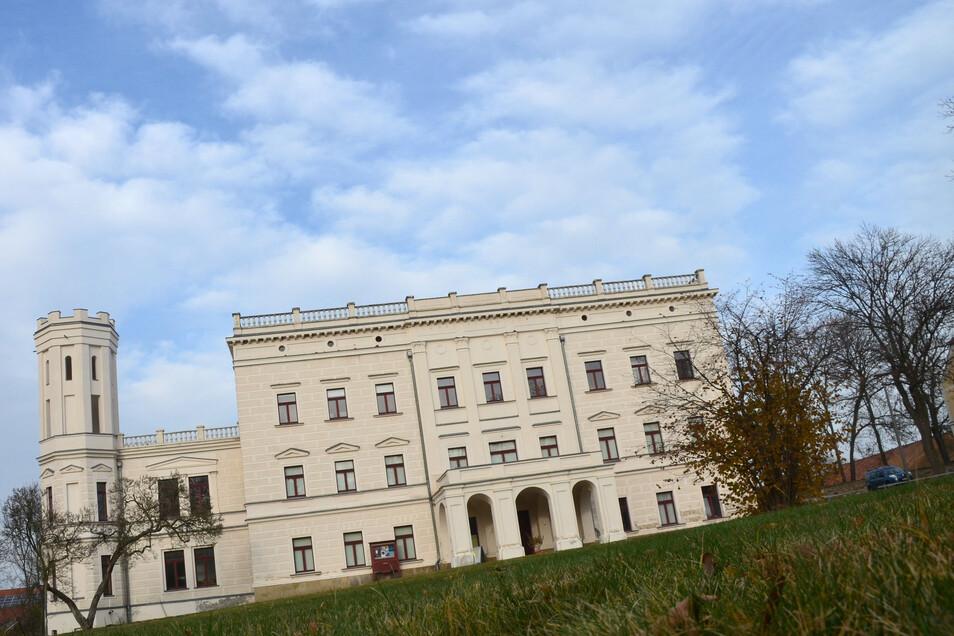 Blick auf das Schloss Krobnitz