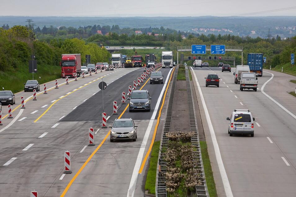 2019 wurde der Asphalt an der Übergangsstelle A17/A4 erneuert. Ab April wird der Fahrbahnbelag zwischen Dresden-West und Dresden-Gorbitz ausgetauscht.