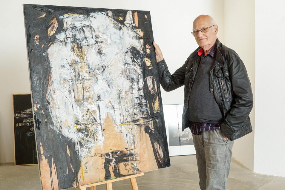 """Mit """"Malerei und Collagen"""" ist der Künstler Eberhard Peters aus Weißwasser zu Gast in der Bautzener Galerie Budissin. Seit über 60 Jahren hält er sine Heimat aus ganz unterschiedlichen Blickwinkeln fest."""