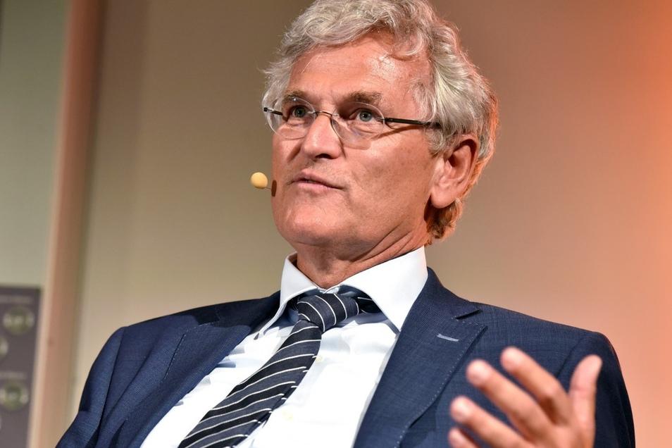 Auch ZDF-Chjefredakteur Peter Frey stellte sich den Fragen der Zittauer. Foto: Matthias Weber