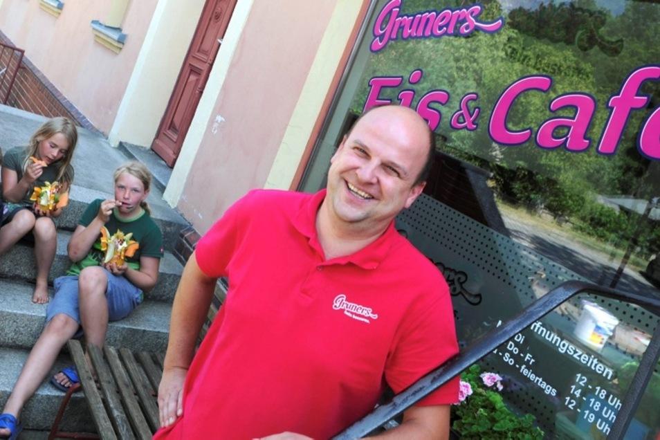 Das Eiscafé von Christian Gruner hat viele kleine und große Fans.