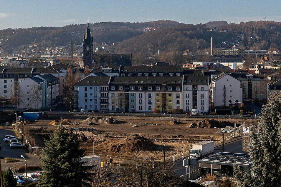Von oben sieht das Gelände der ehemaligen Lederfabrik ganz harmlos aus, doch Teile des Bodens sind erheblich mit Schadstoffen belastet.