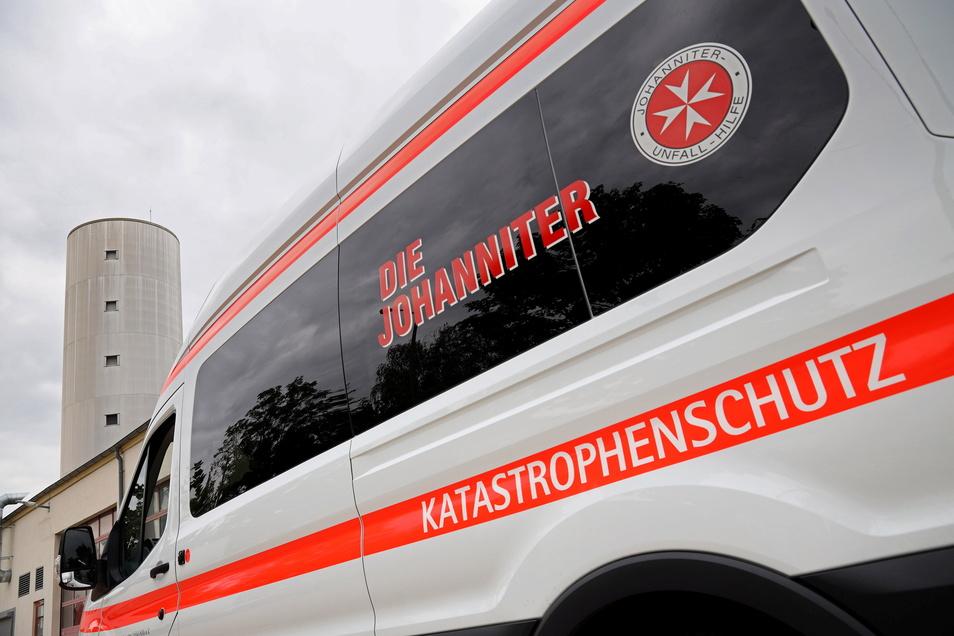 Die Katastrophenschutz-Fahrzeuge aus Glaubitz waren auch am Einsatz beteiligt.