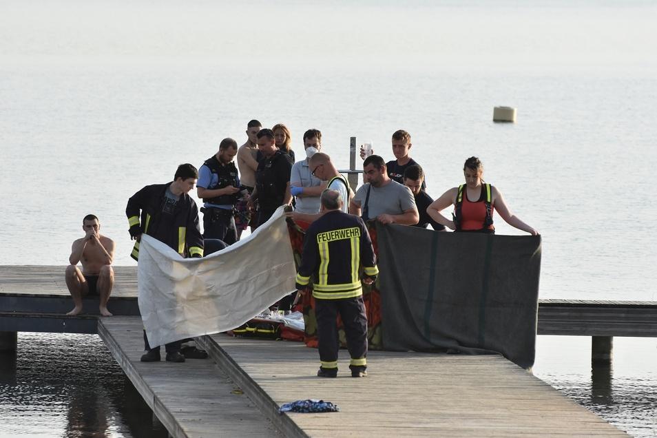 Am Ufer musste der verunglückte Mann reanimiert werden.