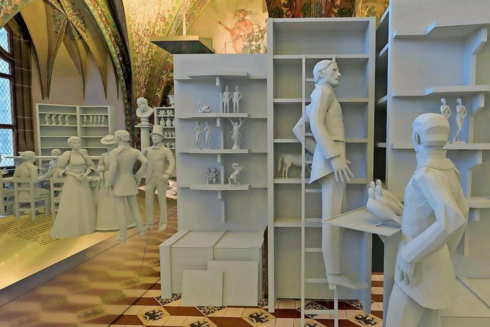Die Albrechtsburg hat in der Vergangenheit mehrere Funktionen ausgefüllt. Das Histopad macht unter anderem die Periode als Porzellanmanufaktur lebendig.