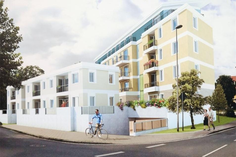 So soll es einmal aussehen: Die Wohnungsgesellschaft baut an der Zaschendorfer Straße 22 Wohnungen.