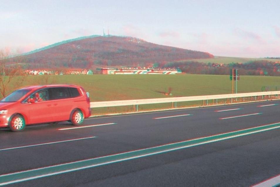 Um Löbau können die Autos auf vier Spuren die neue B178 entlangbrausen. Wenn es nicht nochmal eine überraschende Wende gibt, wird der Abschnitt von Nostitz bis Löbau der einzige vierspurige bleiben. Fotos (2): Matthias Weber