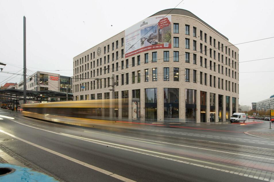 """Neubauwohnungen in bester Lage wie hier am Postplatz sind in Dresden """"fast ausschließlich im hochpreisigen Segment"""" zu haben."""