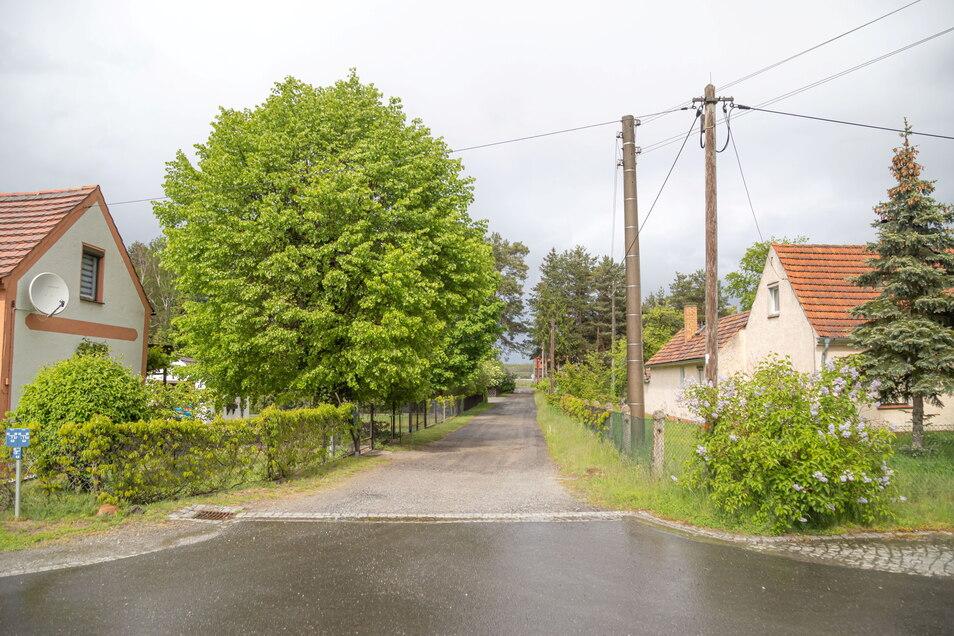 An der Alten Straße in Neudorf geht es zum Grundstück von Heiderose Stölzel. Zwar ist der vordere Teil (im Foto) bereits öffentliche Straße, aber anschließend führt die Zufahrt über privaten Grund.