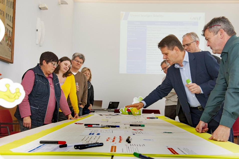 Schon vor der letzten Umfrage gab es zahlreiche Workshops in Großenhain. Jetzt ist die Leitbild-Debatte auf der Zielgeraden.
