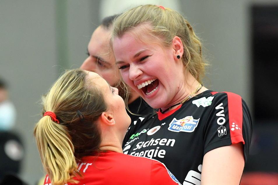 Camilla Weitzel entwickelte sich in Dresden vom großen Talent zur Führungsspielerin, sieht für sich aber noch Steigerungsmöglichkeiten