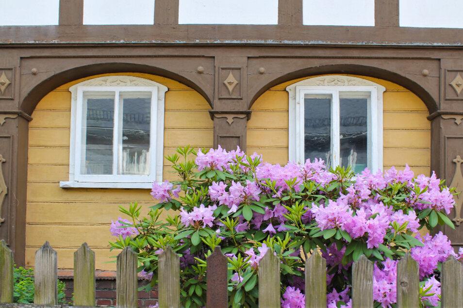 Liebevoll restaurierte Details gehören bei den Umgebindehäusern der Oberlausitz dazu.