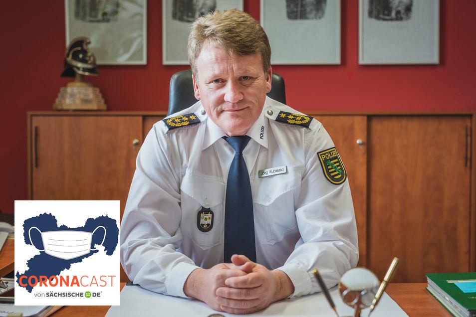 Der Präsident der Polizeidirektion Dresden spricht im Podcast von Sächsische.de über Corona, die neuen Regeln und wie sie angewendete werden.
