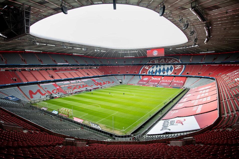 In der leeren Allianz Arena wird der Deutsche Meister Bayern München auch sein letztes Saisonspiel bestreiten.