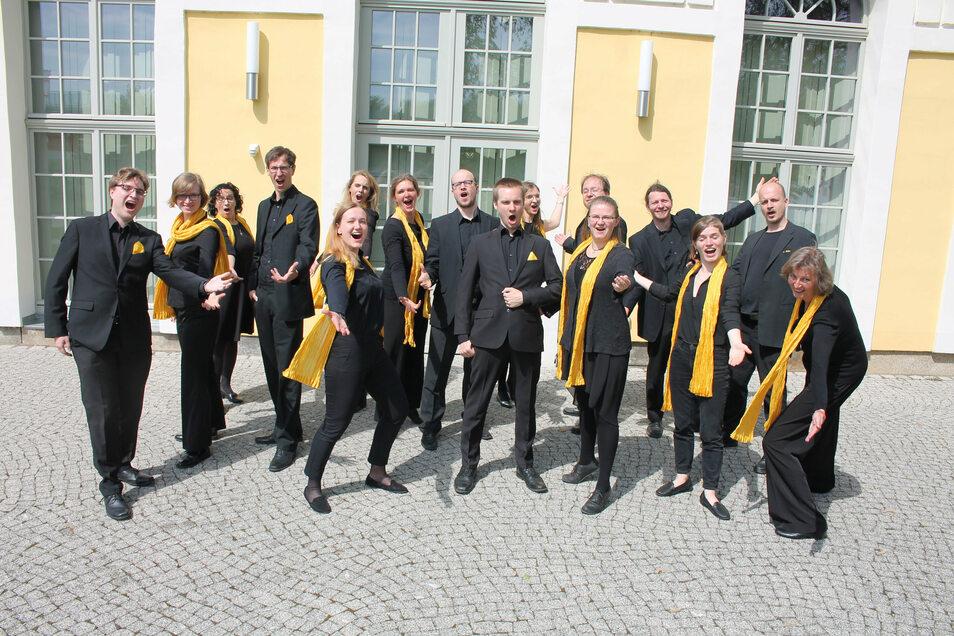 Der Leipziger Kammerchor singt in der Niederebersbacher Kirche.