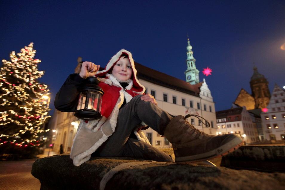 Hannes war im vergangenen Jahr das Pirnaer Weihnachtskind.