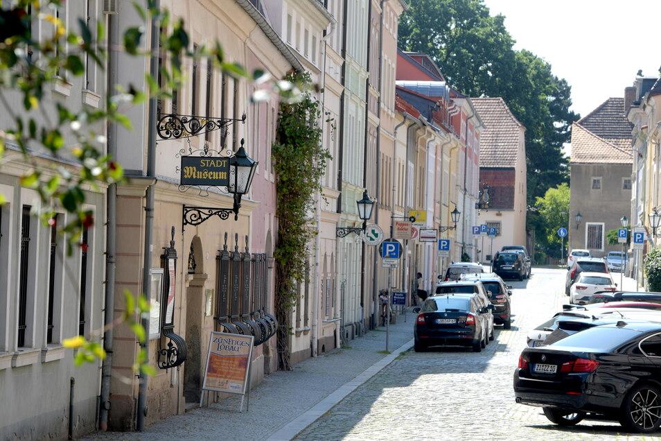 Blick in die Johannisstraße in Löbau. Dort ist auch das Museum zu finden.