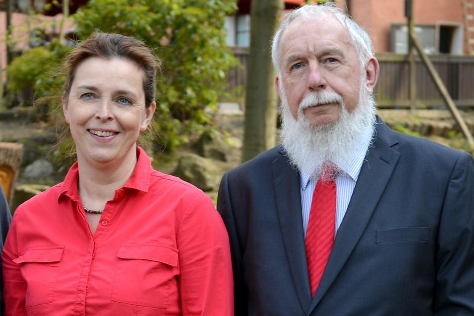 Die SPD-Kandidaten:Kandidaten: Yvonne Bay, Christian Lange.