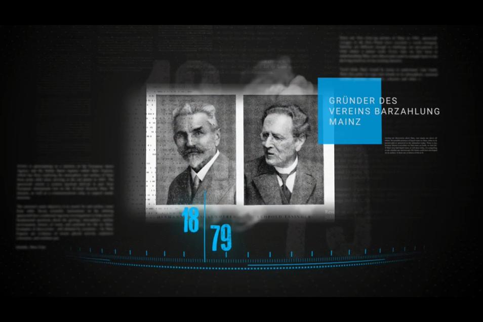 """Hermann Weisskarmmerer und Leopold Essinger waren die Gründungsväter des """"Vereins für Barzahlung Mainz"""", dem Vorläufer von Creditreform."""