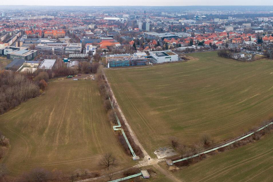 Künftig wird es eine Verbindung der Grünanlage zum Gelände der Universität geben.