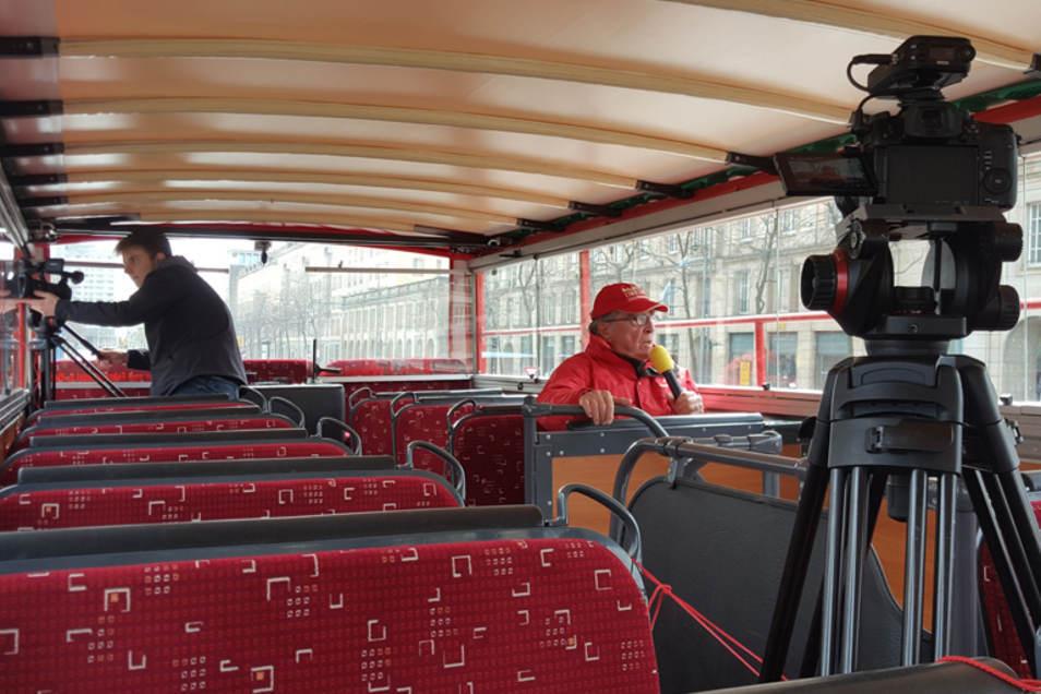 Virtuelle Stadtrundfahrt mit einem roten Doppeldecker durch Dresden - einer unserer Tipps für dieses Wochenende.