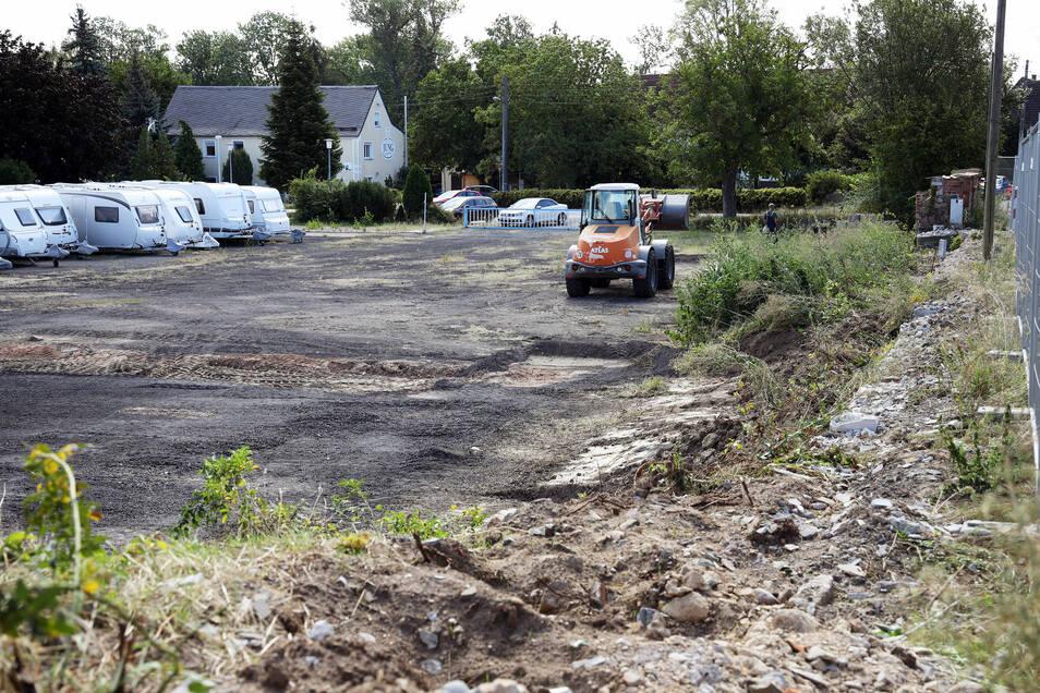 Blick auf das frühere Bäwo-Gelände in Oelsitz. Hier kann nun losgebaut werden.