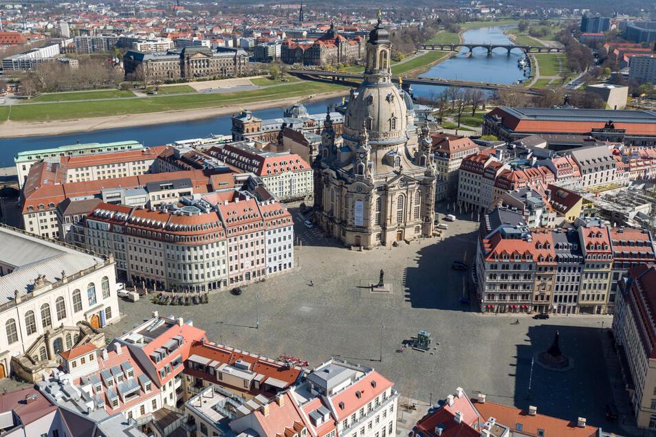 Die neu aufgebaute Dresdner Altstadt: Viele Touristen kann die Landeshauptstadt in nächster Zeit nicht erwarten.