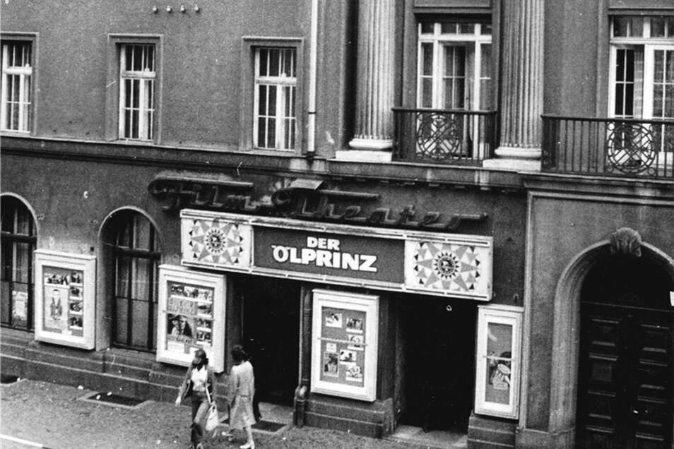 Das Lichtspieltheater an der Bahnhofstraße in Löbau. Dort hat heute die Volksbank ihren Sitz.