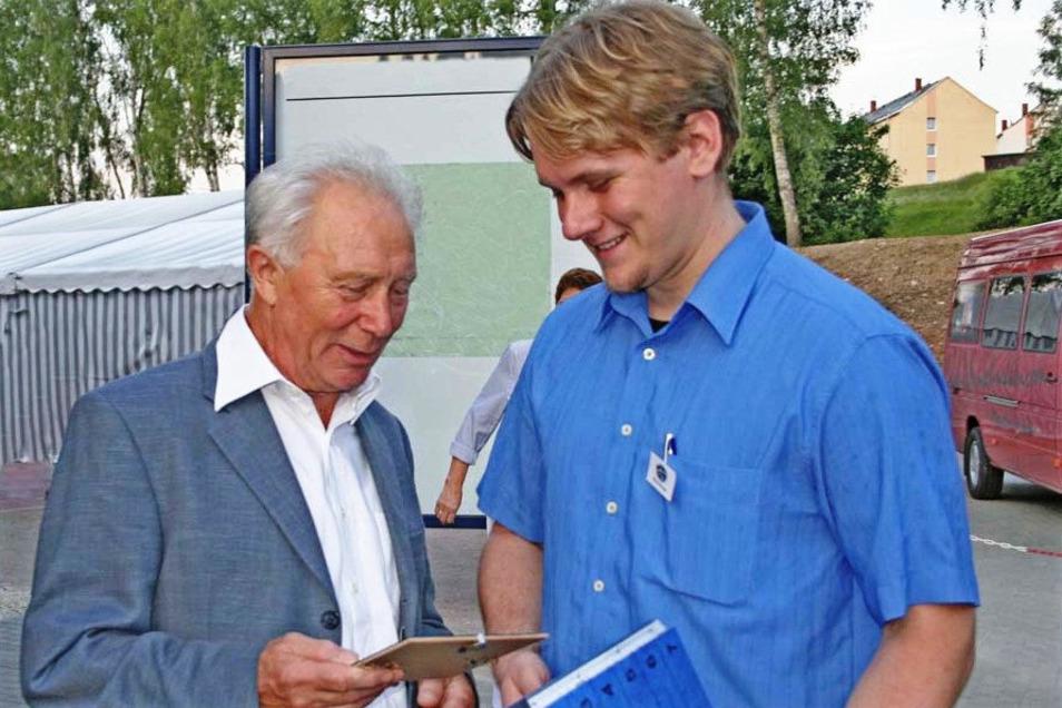 Sigmund Jähn (l.) und Stefan Schwager bei einem Treffen vor einigen Jahren.