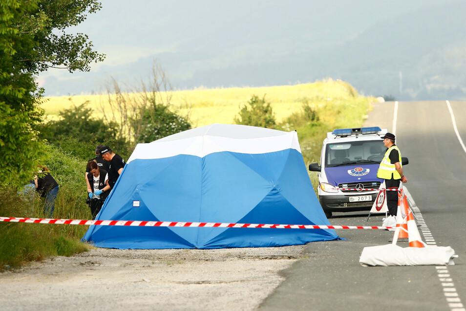 Neben einer Landstraße war die Leiche von Sophia Lösche entdeckt worden.