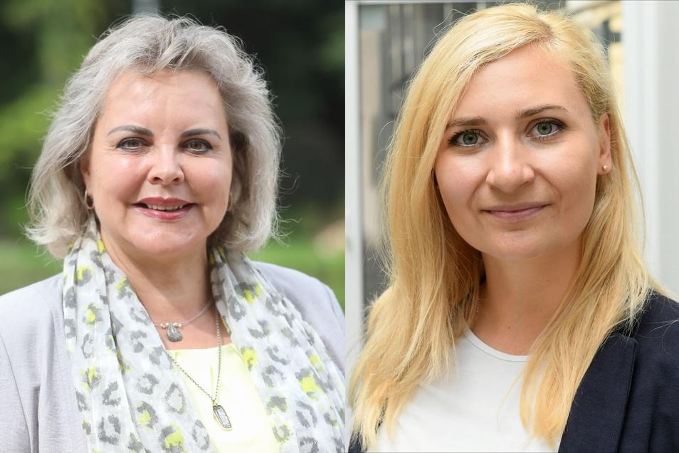 Carolin Bachmann (rechts) hat das Direktmandat für die AfD in Mittelsachsen geholt. Die langjährige direkte Vertreterin Veronika Bellmann (CDU) verlor mit deutlichen Verlusten.
