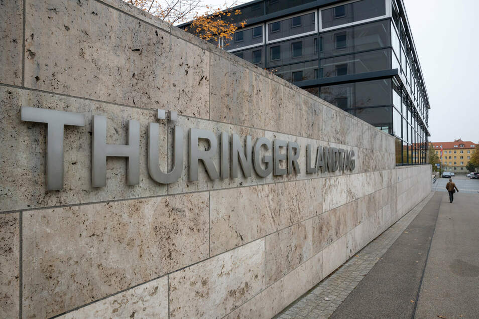 Blick auf den Thüringer Landtag.