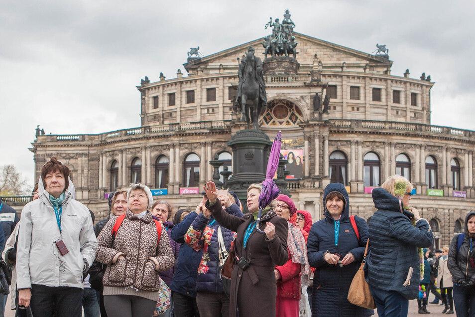 Die meisten Touristen besuchten 2018 Dresden.