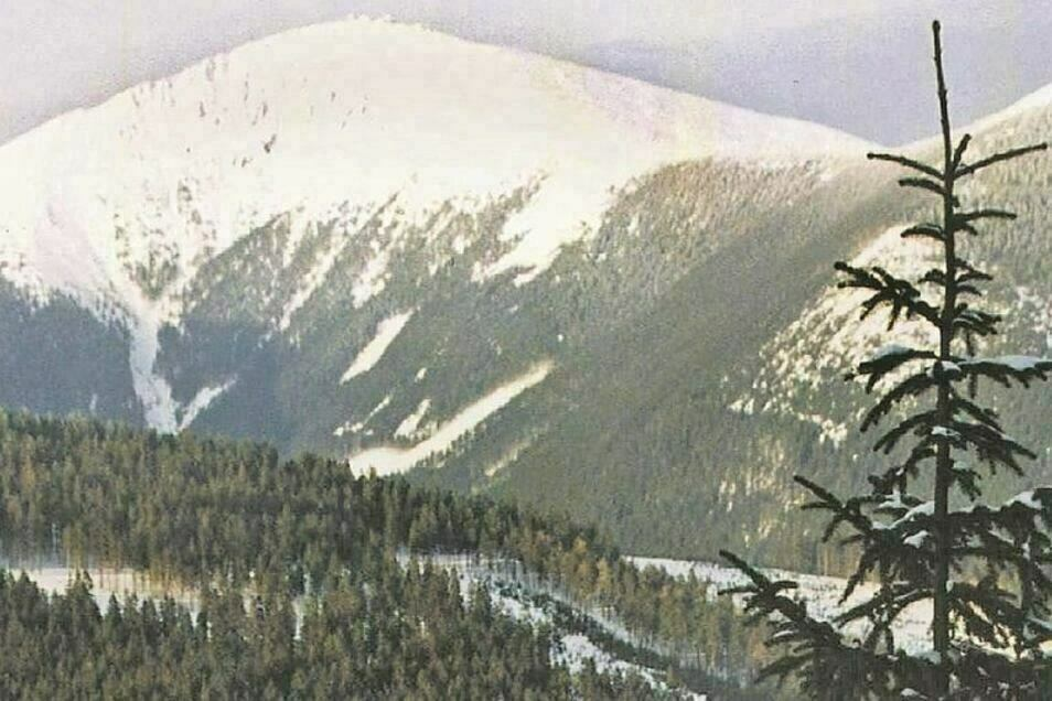 Blick aufs Riesengebirge.