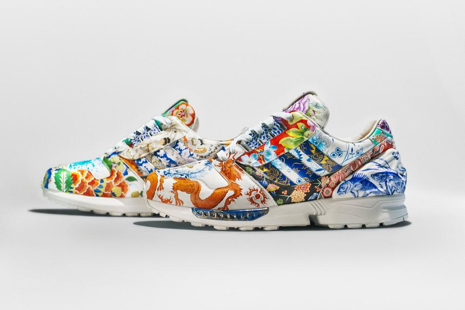 Diese Adidas-Turnschuhe aus Porzellan und Leder sind in New York für 126.000 Dollar versteigert worden.