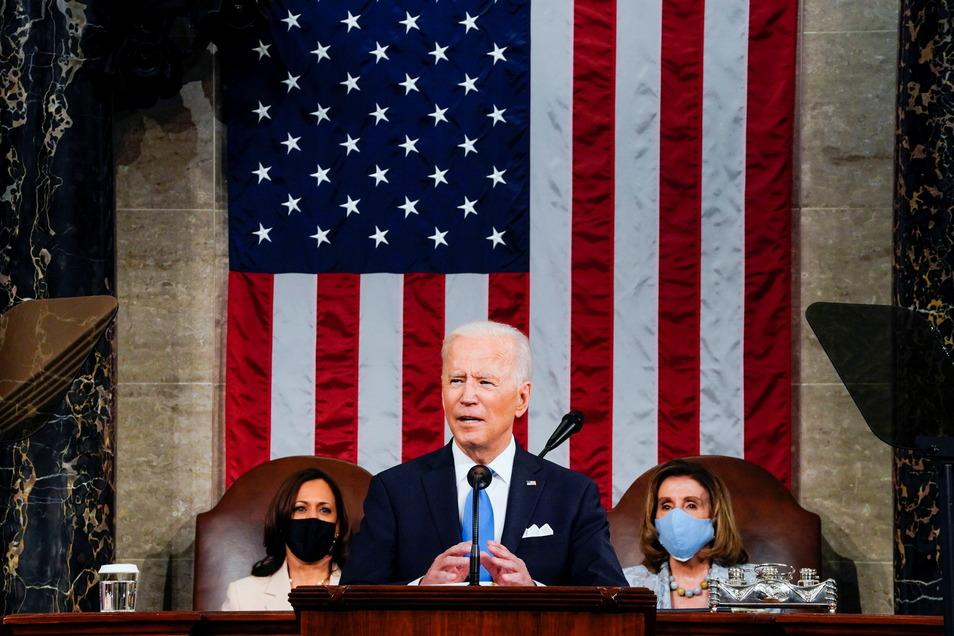 Nach knapp 100 Tagen im Amt legte US-Präsident Biden im Kongress so etwas wie eine erste Rechenschaft ab und warb für seine weiteren Pläne.