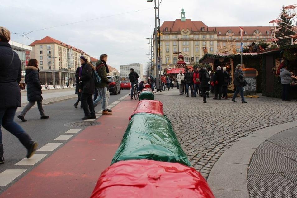 Auch an anderen städtischen Weihnachtsmärkten sollen die Blöcke bunt werden.