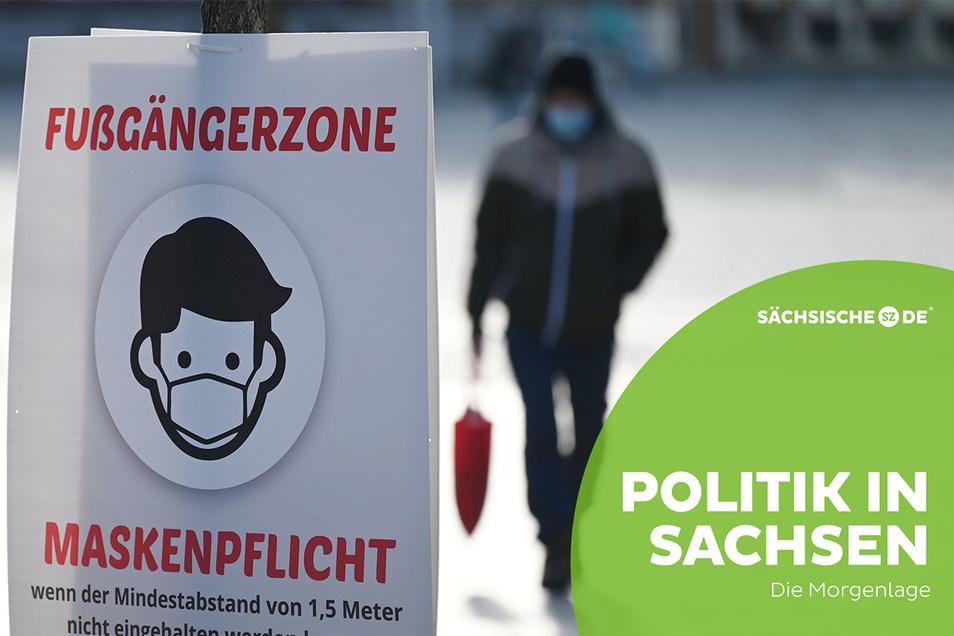 Maskenpflicht im Freien gibt es ab 1. Juli in Sachsen nicht mehr. Eine Mehrheit findet diese Lockerung richtig, sorgt sich aber zugleich vor einer neuerlichen Corona-Welle.