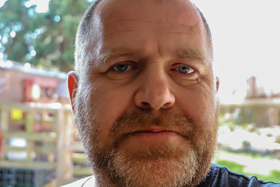 """Jörg Krause hat die Facebook-Seite """"Corona-Hilfe Löbau"""" initiiert."""