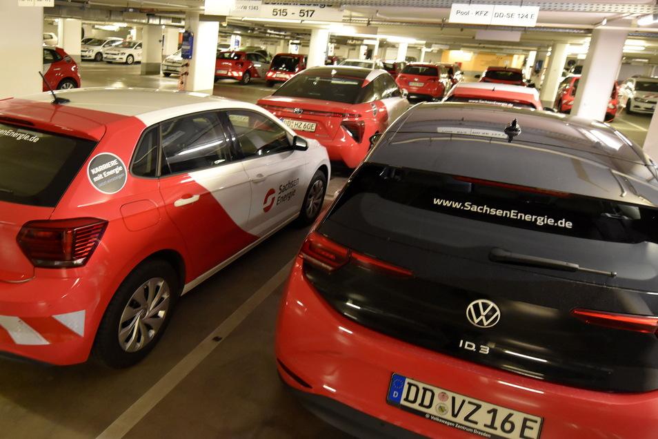 Die SachsenEnergie hat eine Flotte von 145-E-Autos für ihre Mitarbeiter.