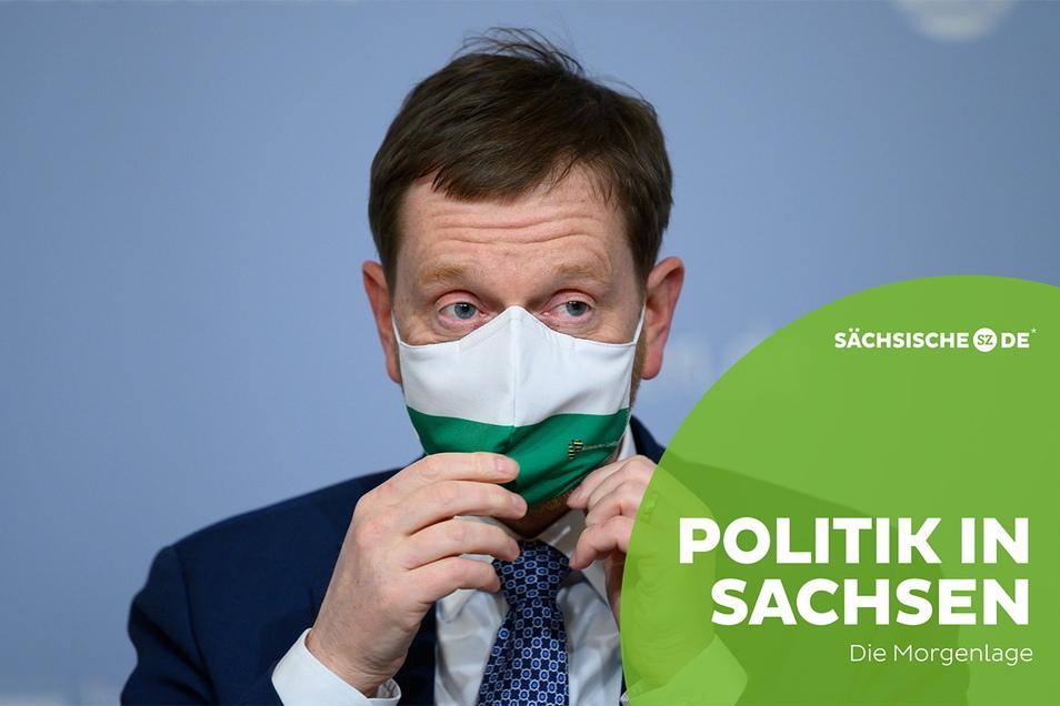 Nach dem Corona-Gipfel von Bund und Ländern stellte Sachsens Regierung um Ministerpräsident Michael Kretschmer (CDU) die neuen Corona-Regeln für den Freistaat vor.