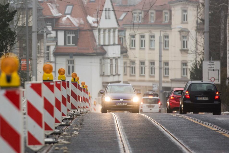 Die Bautzner Landstraße in Dresden soll mit dem Geld auch zwischen Am Heiderand und Kurparkstraße ausgebaut werden.
