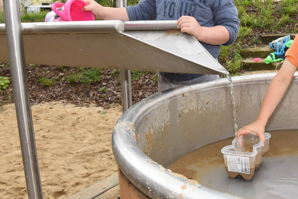 Ein Wasserspielplatz gehört ebenso zum Polypark in Dipps.