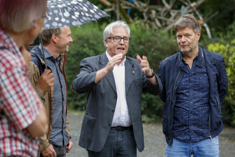 ... und auch Grünen-Chef Robert Habeck wurde von Bernd Großer empfangen.